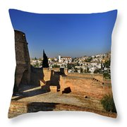 The Alhambra Palace Cubo Tower Throw Pillow