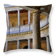 The Alhambra Palace Of Carlos V Throw Pillow by Guido Montanes Castillo