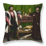 The Ambassadors Throw Pillow