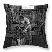 The Apprentice Monochrome Throw Pillow by Steve Harrington