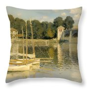 The Argenteuil Bridge Throw Pillow