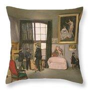 The Artist's Studio Throw Pillow