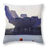 The Artscience Museum In Singapore Throw Pillow
