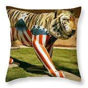 The Auburn Tiger Throw Pillow