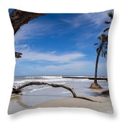 The Beach At Hunting Island State Park Throw Pillow