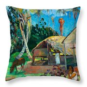 The Black Pigs Throw Pillow