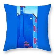 The Blue House Burano Throw Pillow
