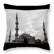 The Blue Mosque Throw Pillow