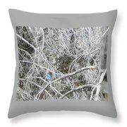 The Blue Stallion Throw Pillow