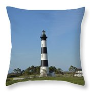 The Bodie Island Light House Throw Pillow