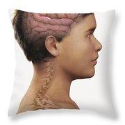 The Brain Child Throw Pillow