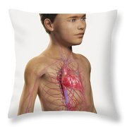 The Cardiovascular System Pre-adolescent Throw Pillow