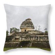 The Castillo In Chichen Itza Throw Pillow