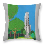 The Cathedral Of Learning Throw Pillow by John Wiegand