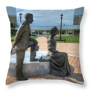 The Catherine And Milton Hershey Statue Throw Pillow