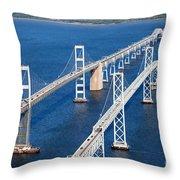 The Chesapeake Bay Bridge Throw Pillow