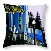 The Church Steps Throw Pillow