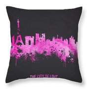 The City Of Love Throw Pillow