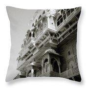 The City Palace Throw Pillow