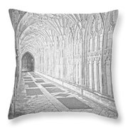The Cloister In Gloucester Cathedral Throw Pillow