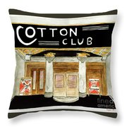 The Cotton Club Throw Pillow