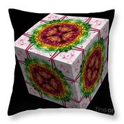 The Cube 12 Throw Pillow