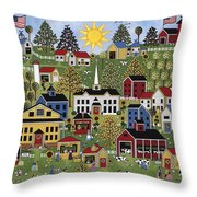The Dairy Festival Throw Pillow