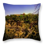 The El Tovar Hotel At The Grand Canyon Throw Pillow
