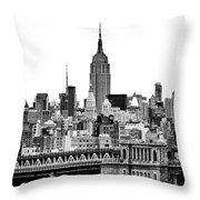 The Empire State Building Throw Pillow by John Farnan