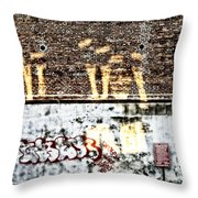 The Face On The Wall Throw Pillow
