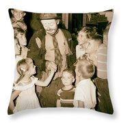 The Famous Clown Emmett Kelly 1956 Throw Pillow