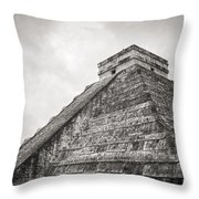 The Famous Kulkulcan Pyramid At Chichen Itza Throw Pillow