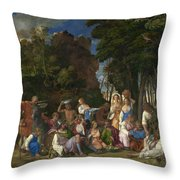 The Feast Of The Gods Throw Pillow