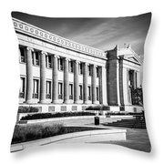 The Field Museum In Chicago In Black And White Throw Pillow