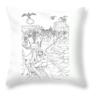 The Fifty Marshals Throw Pillow