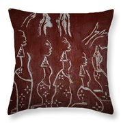 The Five Wise Virgins Throw Pillow