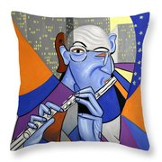 The Flutist Throw Pillow