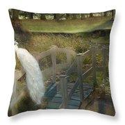 The Foot Bridge Throw Pillow