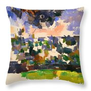 The Garden At Les Lauves Throw Pillow