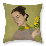 The Golden Kiss Of Spring Throw Pillow