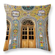 The Golestan Palace In Tehran Iran Throw Pillow