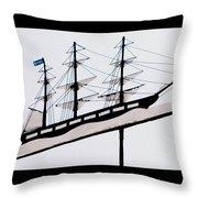 The Good Ship Bethel Throw Pillow