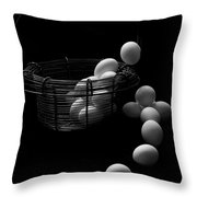 The Great Eggscape Throw Pillow