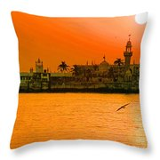 The Haji Ali Dargah Throw Pillow