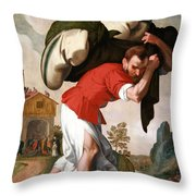 The Healing Of The Paralytic Throw Pillow