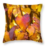 The Heart Of Fall Throw Pillow