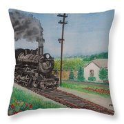 The Hillsboro Local Passing My Birthplace At Sardinia Throw Pillow