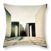 The Holocaust Memorial Berlin Germany Throw Pillow