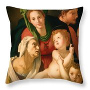 The Holy Family Throw Pillow