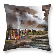 The Horse Traders Throw Pillow